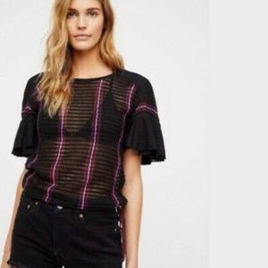 Free People Babes Only Flutter Knit Top